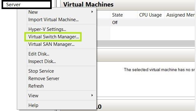 start pxe over ipv4 hyper-v Configure Virtual Switch