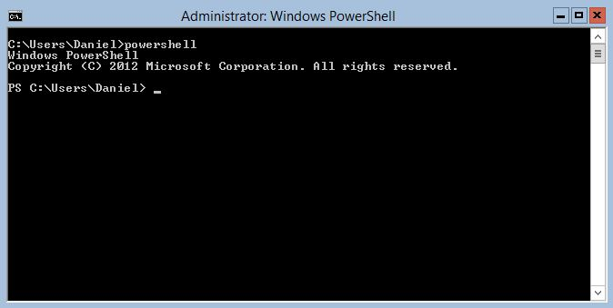 Powershell in administrative mode