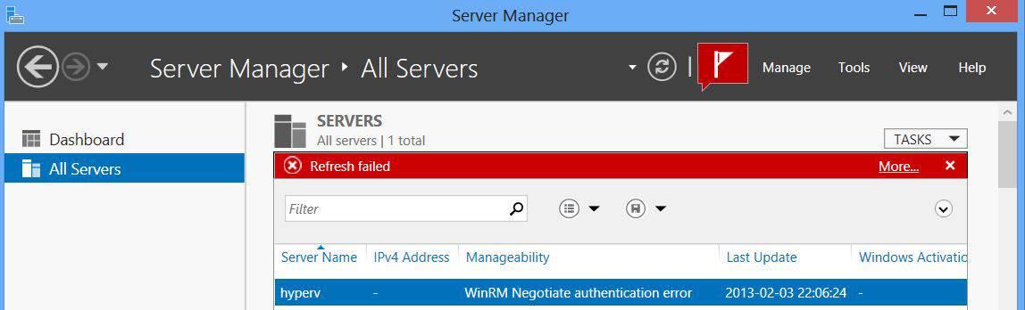 WinRM Error Windows Server 2012 Trusted Hosts