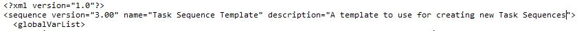 Edit Task Sequence template MDT 2013