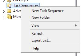 Create new MDT task sequence