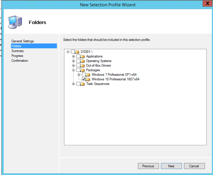MDT - New selection profile wizard Microsoft Deployment