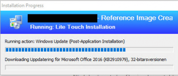 MDT Download Error When Building a Windows 10 1607 image in MDT