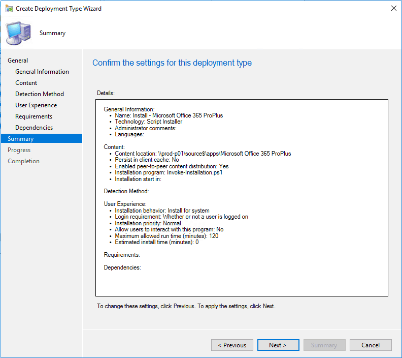 Office 365 Deployment With SCCM and PS App Deployment Toolkit