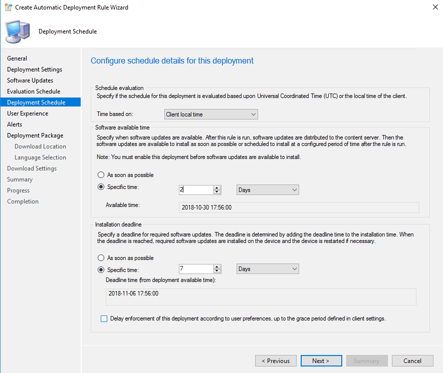 Automatic Deployment Rules in SCCM