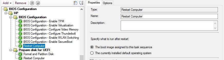 Add Restart Computer step in Task Sequence in SCCM