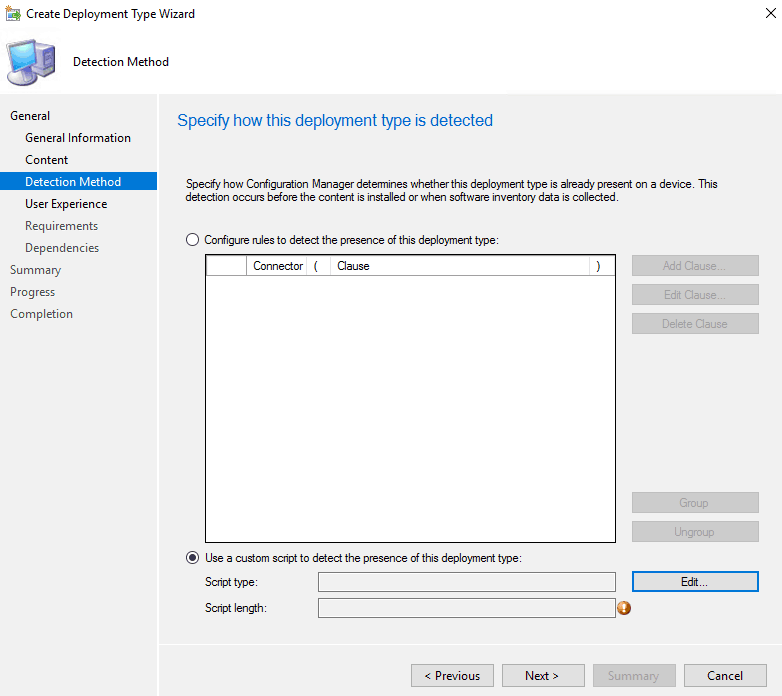 SCCM detection method