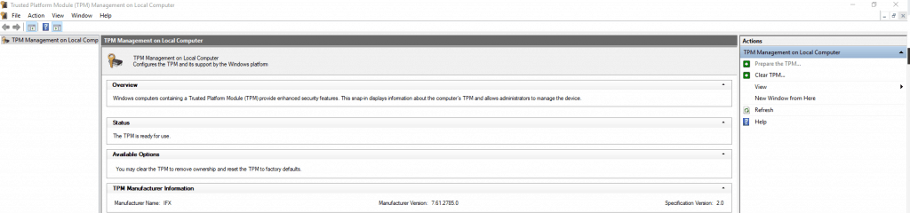 How to downgrade tpm from 2. 0 to 1. 2 using hp tpm configuration.