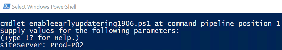 Fast Ring Powershell Script in SCCM 1906