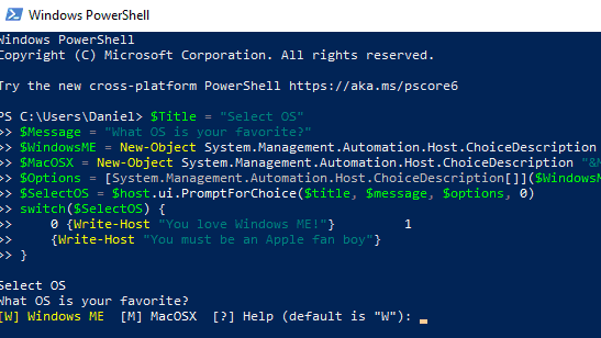 How To Create a Menu Selection Script in Powershell