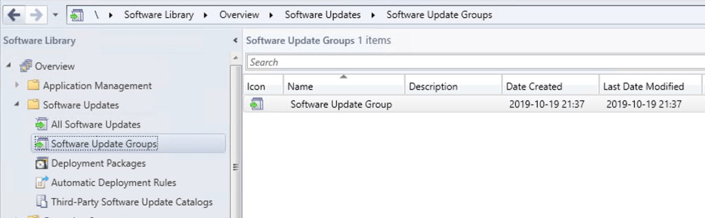 SCCM Software Update Groups